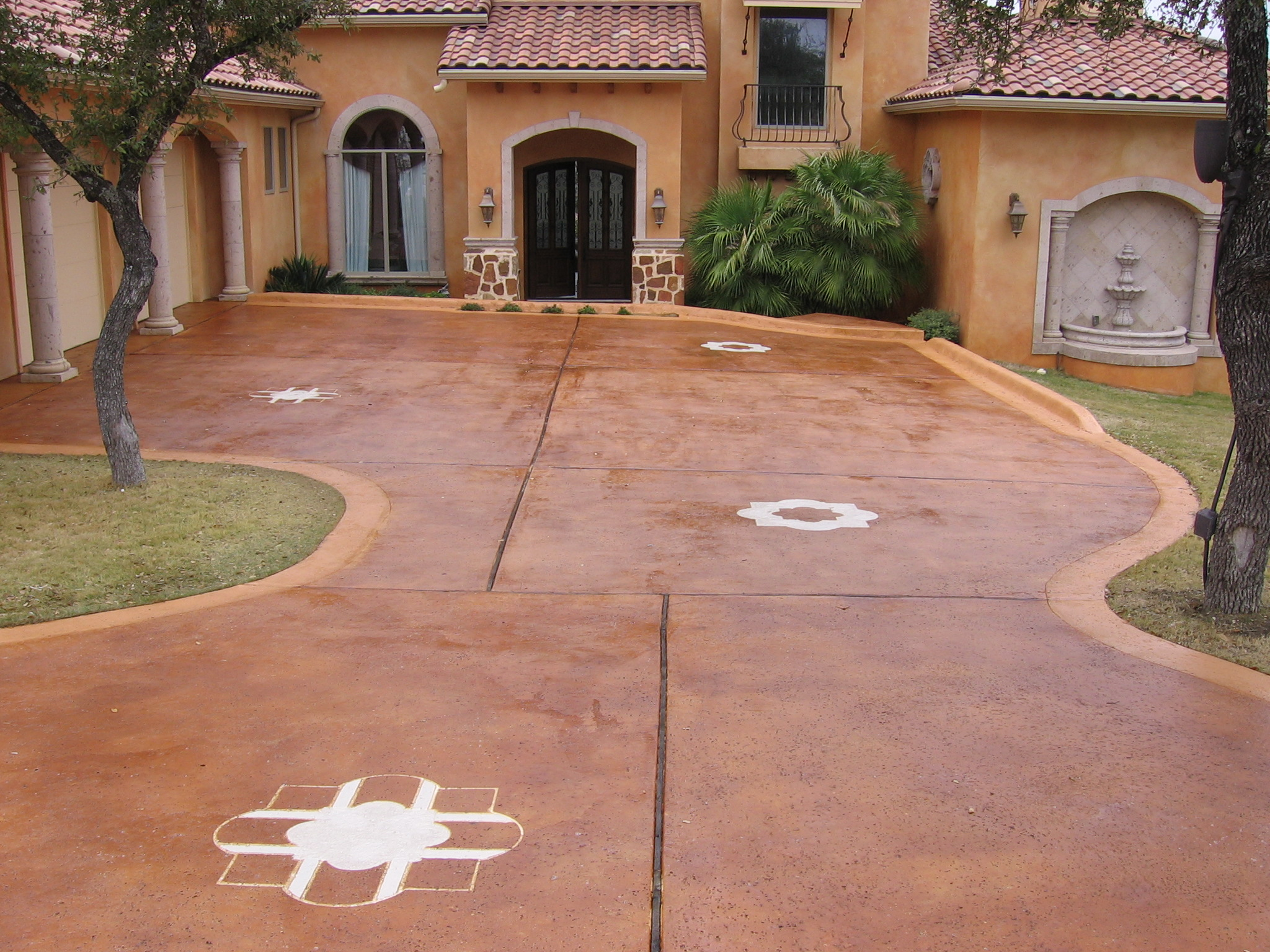 Stained Concrete Driveways Patios Sidewalks Garages