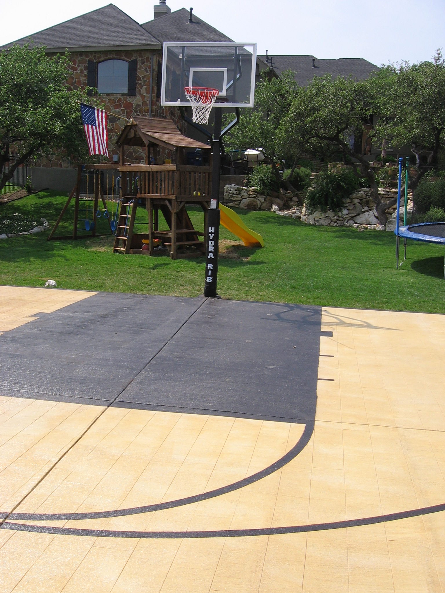 Concrete Basketball Court Basketball Scores